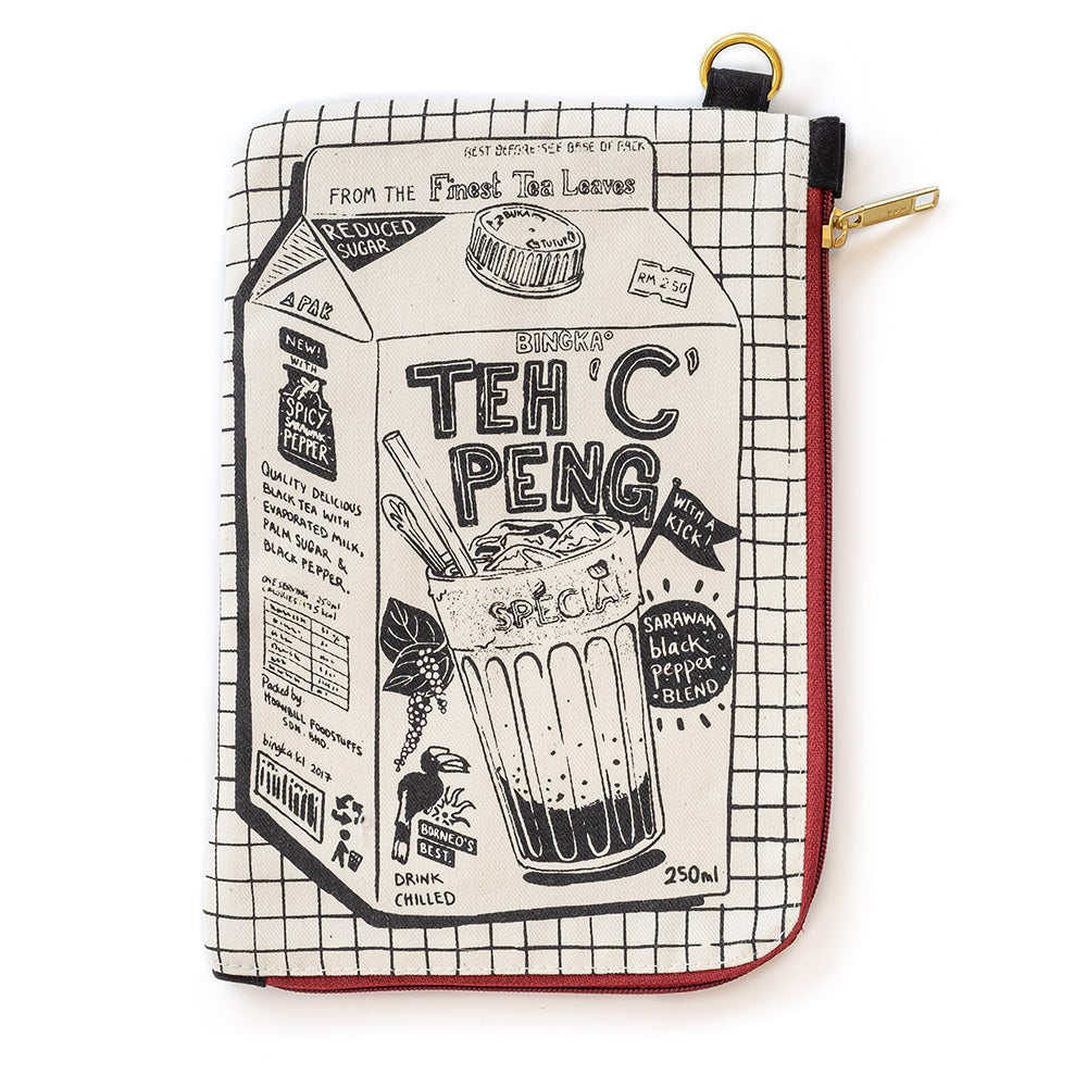 Teh C Peng Travel Pouch (red zipper)