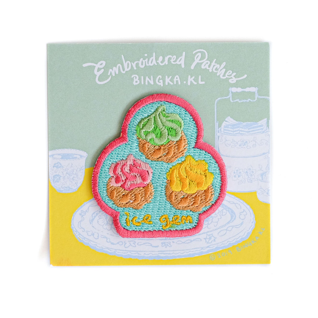 Embroidery Patches Ice Gem