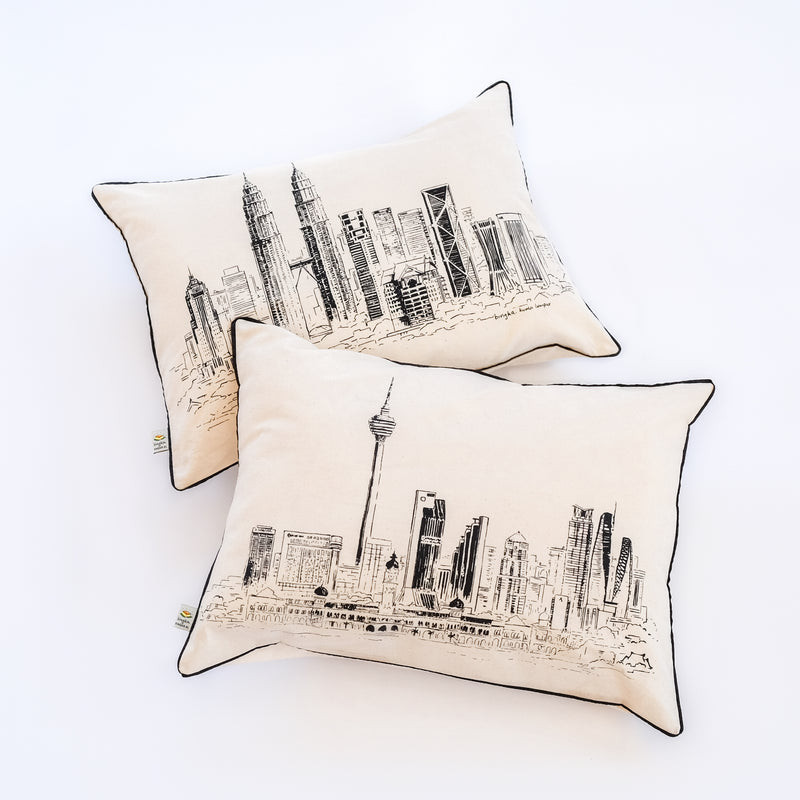 KL Tower Skyline Pillowcase