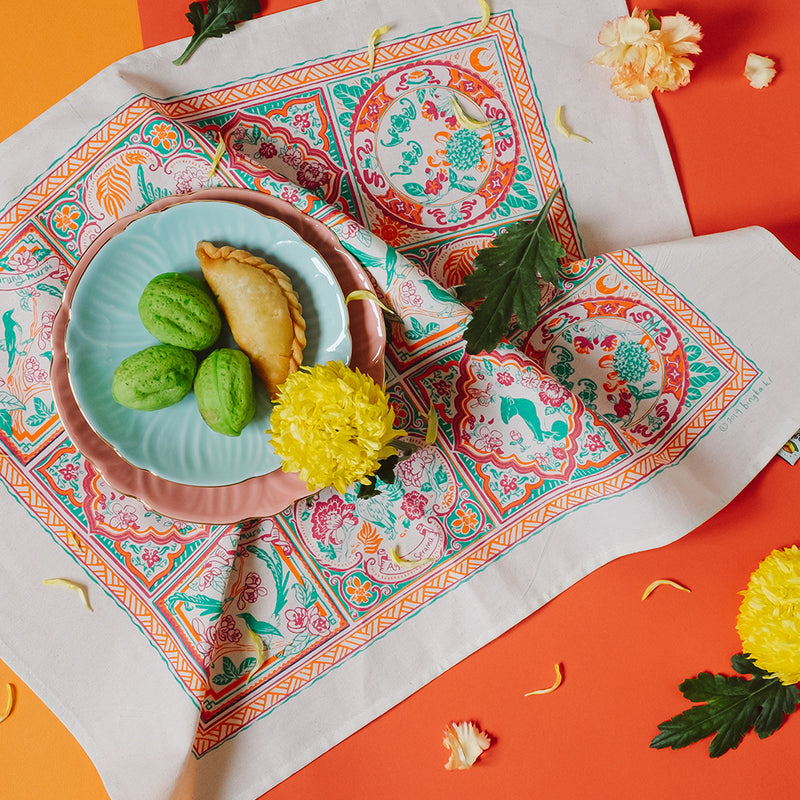 Peranakan Tile Tea Towel
