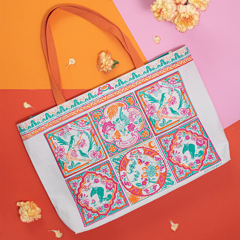 Peranakan Tile Carry All Tote