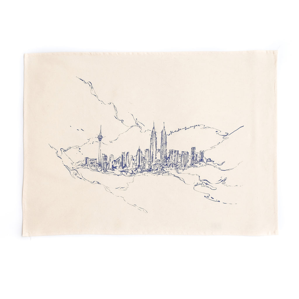 KL Marble Skyline Tea Towel