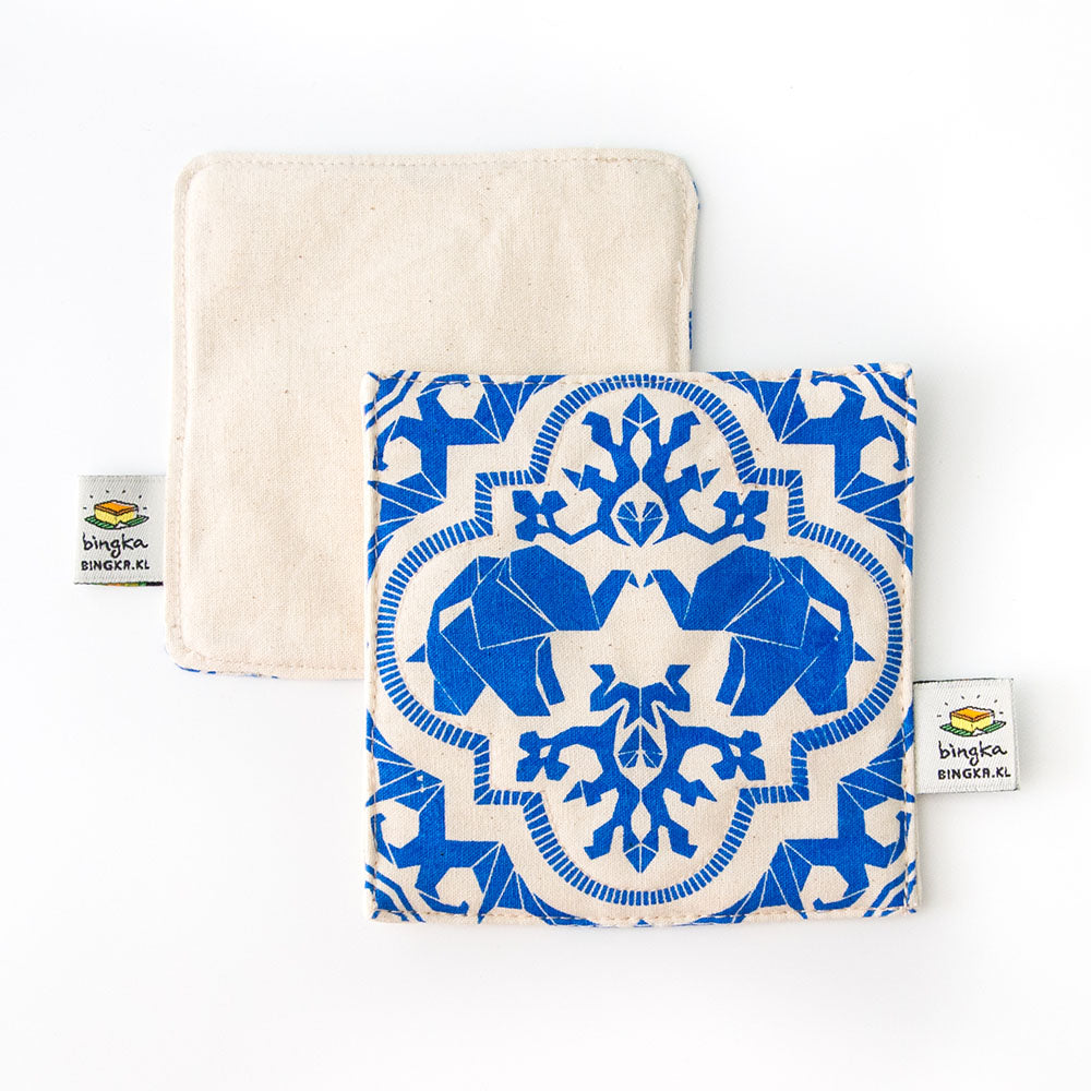 Royal Blue Mahagajah Coaster