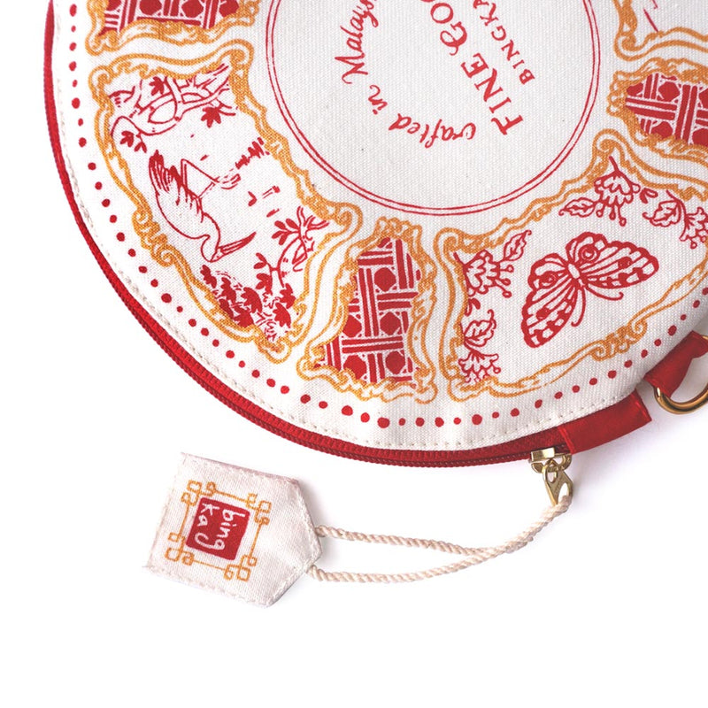 Red Saucer Coin Pouch