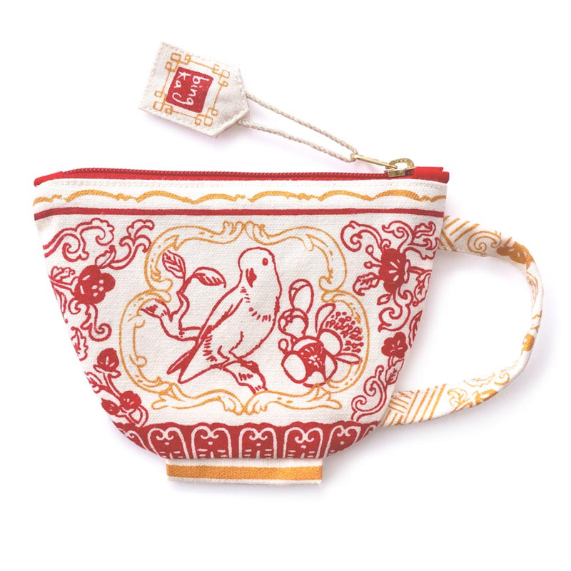 Lorikeet Red Tea Cup Coin Pouch