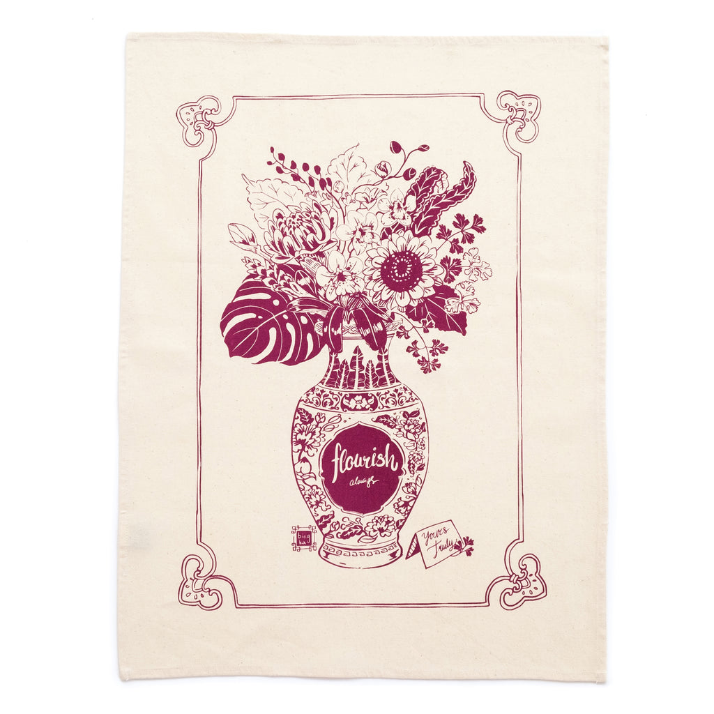 Flourish Tea Towel