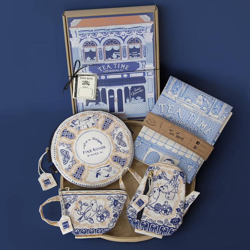 Bingka Admiral Blue Tea Shop Box Set