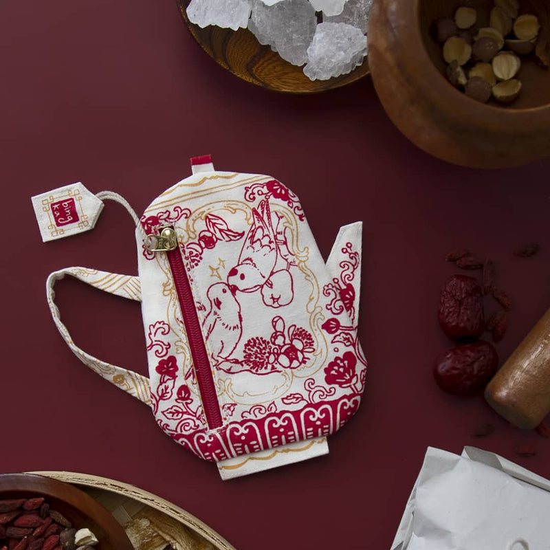 Lorikeet Red Tea Pot Coin Pouch