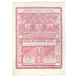 Bingka Tea House Tea Towel in Pink