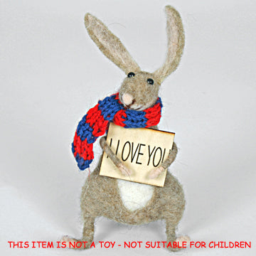 'I Love You' Felt Hare