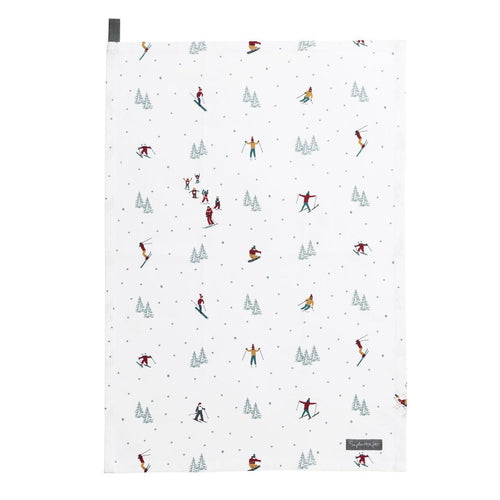 Skiing Sophie Allport Tea Towel
