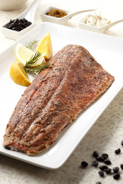 Alaska Sockeye Salmon with Spiced Coffee Rub