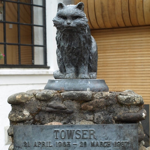 A statue of Towser, a cat in Scottland famous for catching mice.