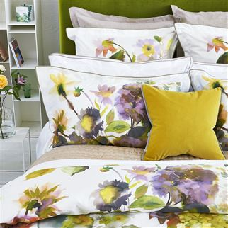 Palace Flower Birch Duvet Covers & Shams