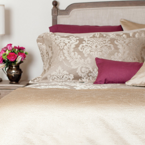 Ardere Gold Coverlet & Shams