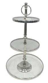 Nickel & Glass 3 Tier Stand