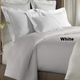 Alyssa white coverlet shown on bed