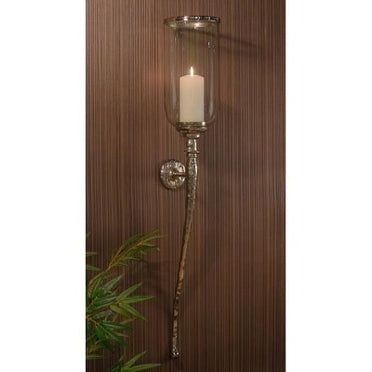 Hammered Nickel Wall Sconce