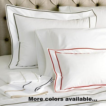 Ansonia satin stitch trim bedding
