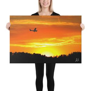 Canvas: Plane in the Sky