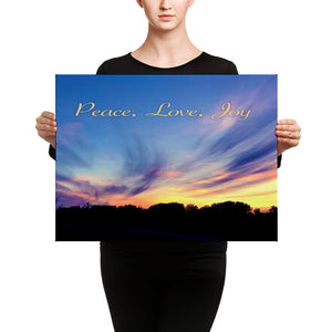 Canvas: Peace, Love, Joy