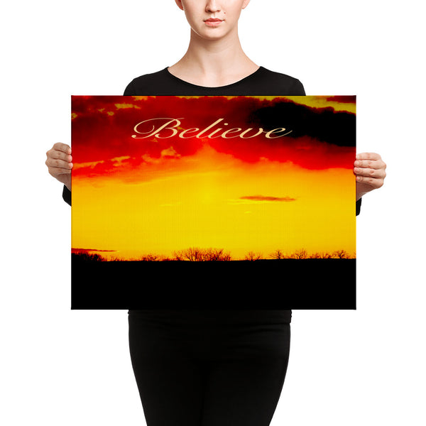 Canvas: Believe - Sun and Clouds