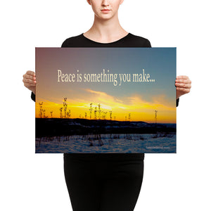 Canvas: Peace is something you make