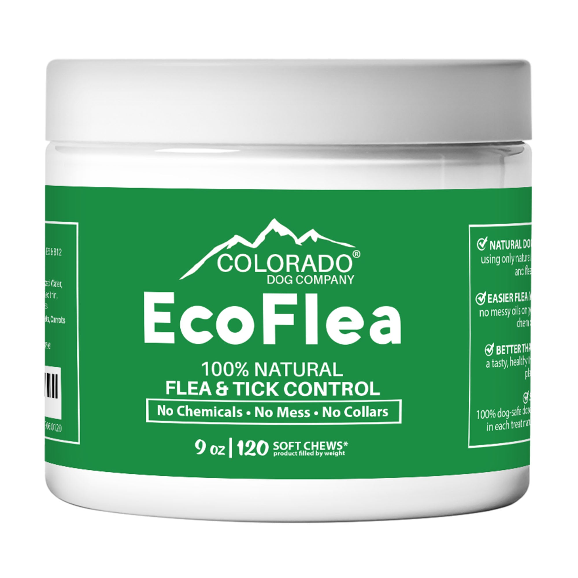 EcoFlea - all Natural Chewable Dog Treats for Flea and Tick Treatment and Prevention