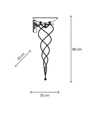 Drawing of wall sconce