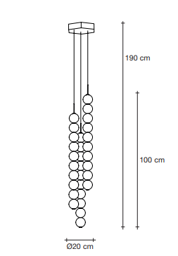 Drawing of abacus 3 strand