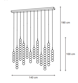 drawing of 12 strand suspension light