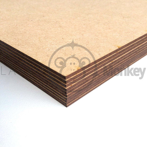 Wooden 3mm MDF High Quality Plain A5 A4 A3 Sheets Boards laser safe