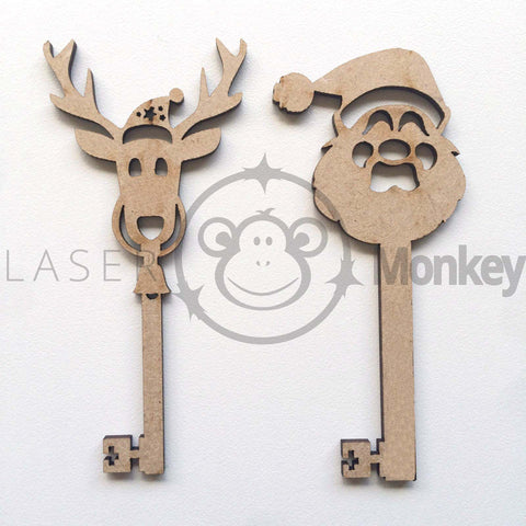 Wooden MDF Christmas Toy Soldier Shapes 3mm Thick Embellishments Decorations