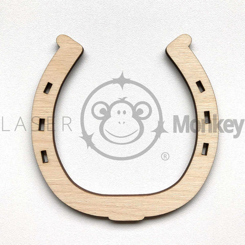 Birch Ply Wooden Craft Shapes Horseshoes Variety 3mm Thick