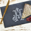 Monogrammed Rectangular Slate Cheese Server