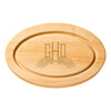 Monogrammed Oval Cutting Board