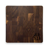 Monogrammed Butcher Block - Walnut (various sizes)