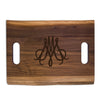 Monogrammed Artisan Double Handle Board - Walnut