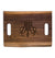Monogrammed Rectangular Double Handle Board - Walnut