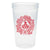 Monogrammed Holiday Stadium Cups