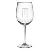 Monogrammed Wine Glass Set