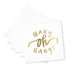 Oh Baby! Cocktail Napkins - Gold