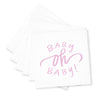 Oh Baby! Cocktail Napkins - Pink
