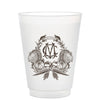 Monogrammed Thanksgiving Crest Frosted Cups