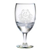 Monogrammed Thanksgiving Crest Water Glass Set