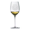 Monogrammed Thanksgiving Crest White Wine Glass Set