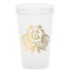 Monogrammed Thanksgiving Crest Stadium Cups