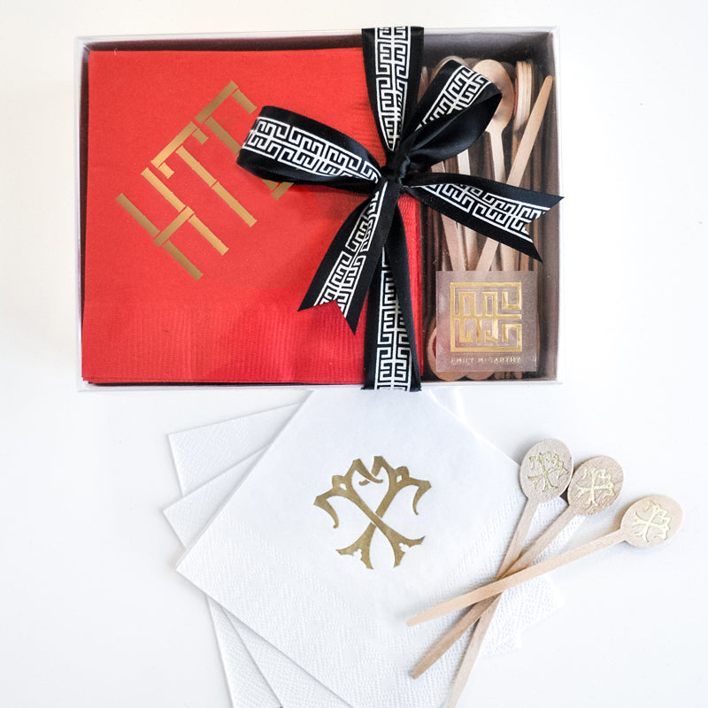 Monogrammed Cocktail Gift Set