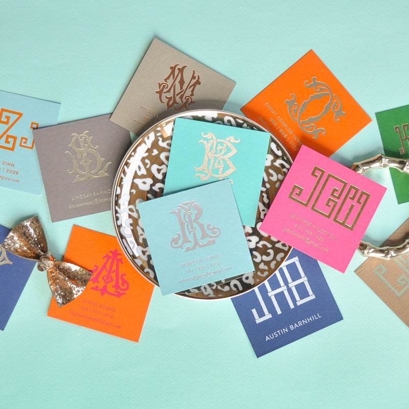 Monogrammed Calling Cards - Emilymccarthy.com