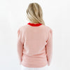 Classic Scalloped Sweater - Cheers Pink/Red